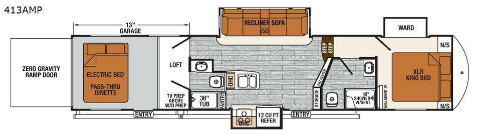 XLR Thunderbolt 413AMP Floorplan Image