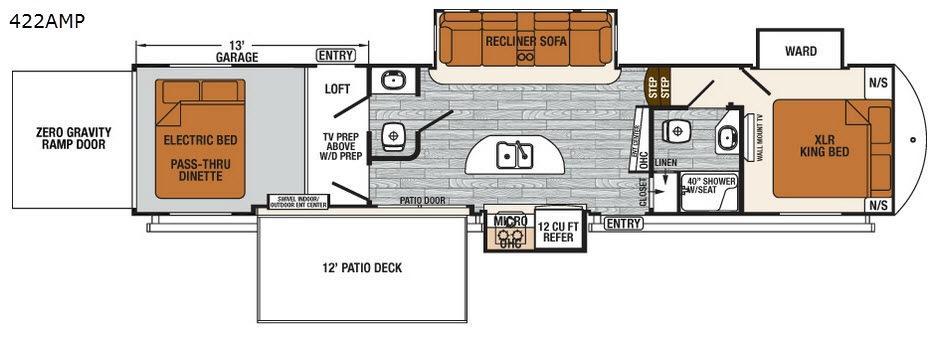 XLR Thunderbolt 422AMP Floorplan Image