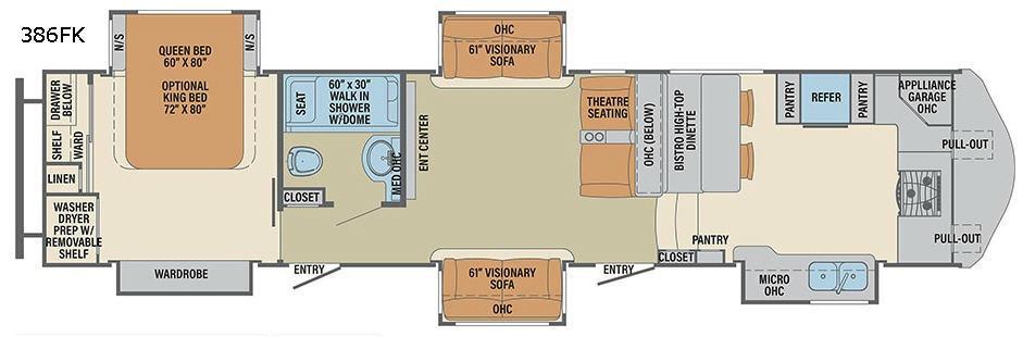 Columbus F386FK Floorplan Image