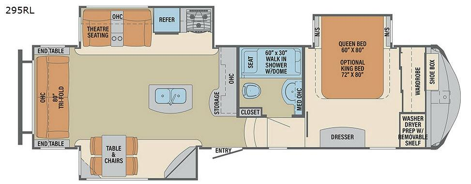 Columbus F295RL Floorplan Image