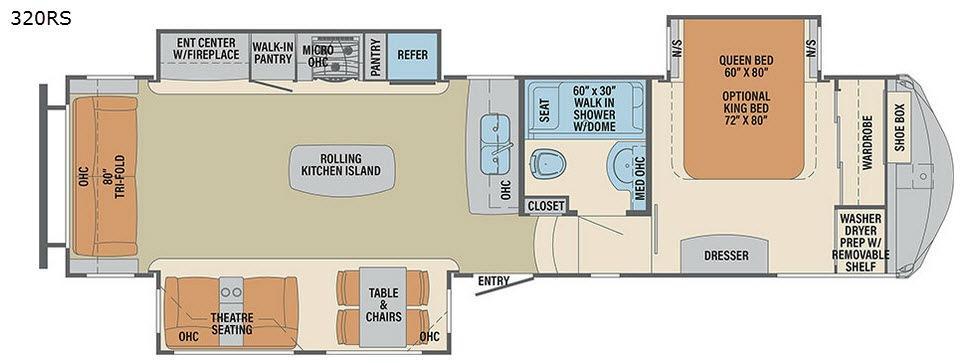 Columbus F320RS Floorplan Image