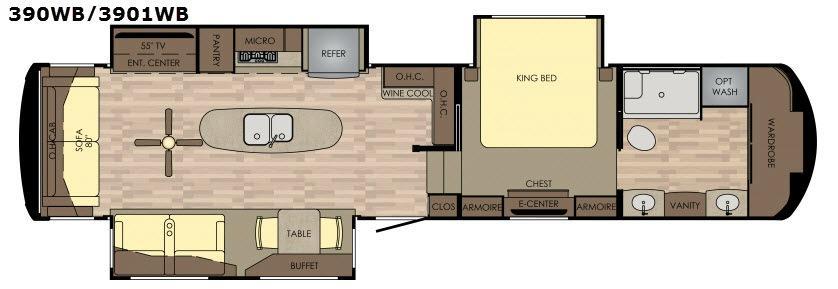 Redwood 390WB Floorplan Image