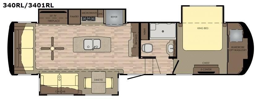 Redwood 340RL Floorplan Image