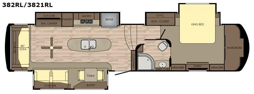 Redwood 382RL Floorplan Image
