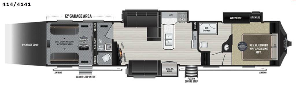 Fuzion 414 Floorplan Image
