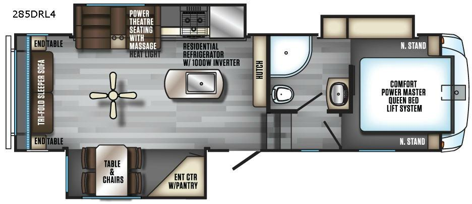 Cherokee Arctic Wolf 285DRL4 Floorplan Image