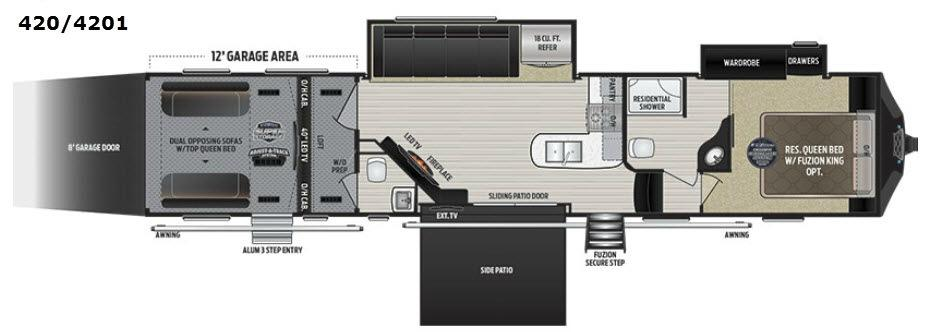 Fuzion 4201 Floorplan Image
