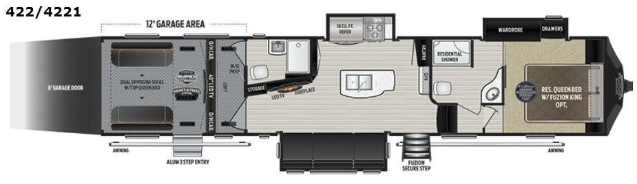 Fuzion 422 Floorplan Image