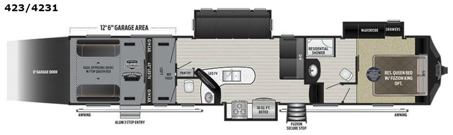 Fuzion 423 Floorplan Image