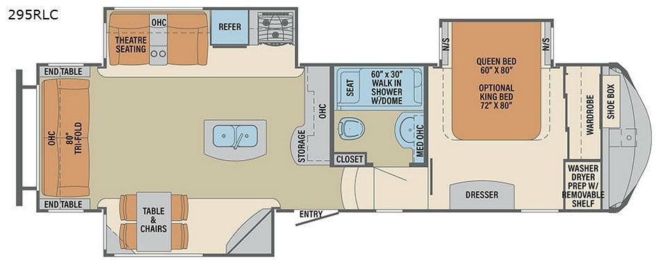 Columbus Compass 295RLC Floorplan Image