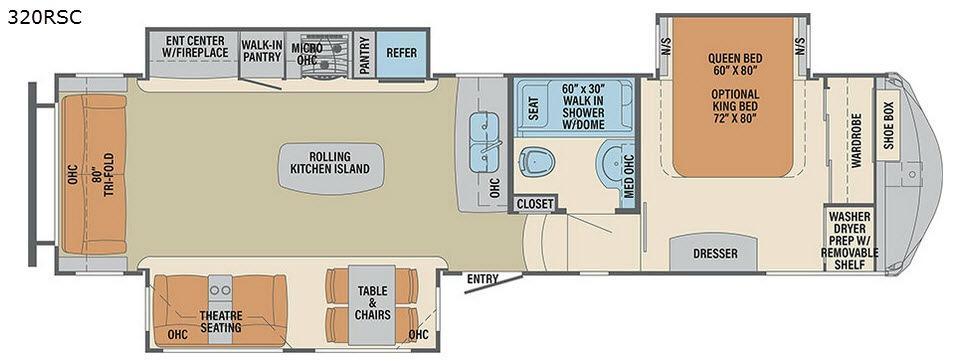 Columbus Compass 320RSC Floorplan Image