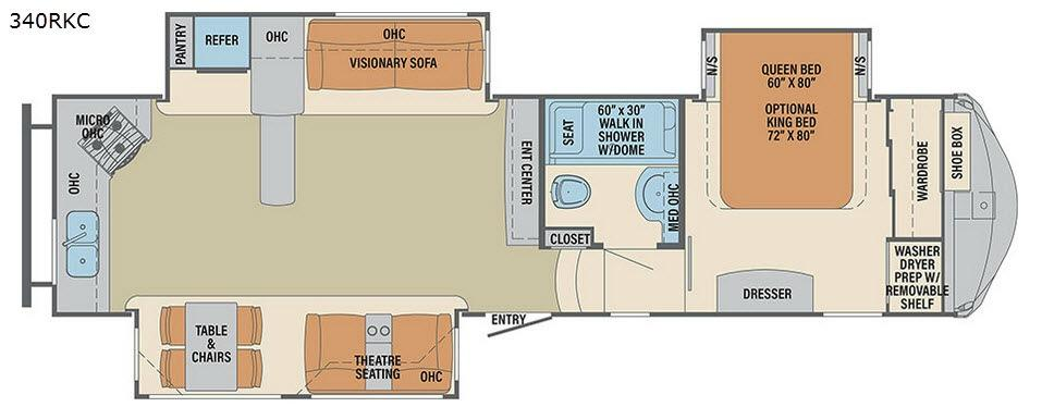 Columbus Compass 340RKC Floorplan Image