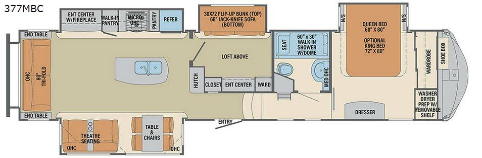 Columbus Compass 377MBC Floorplan Image