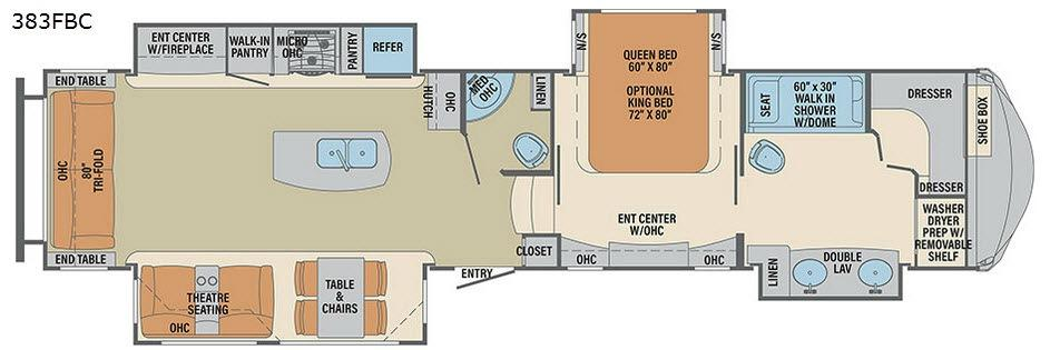 Columbus Compass 383FBC Floorplan Image
