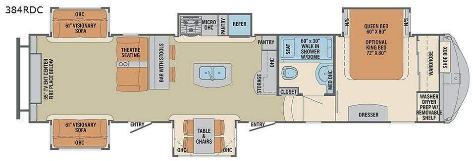 Columbus Compass 384RDC Floorplan Image