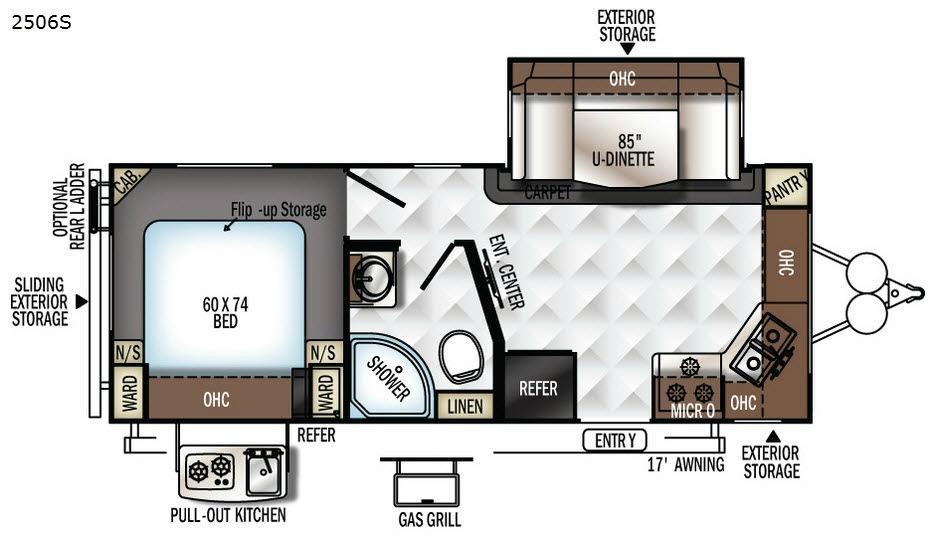 Rockwood Mini Lite 2506S Floorplan Image