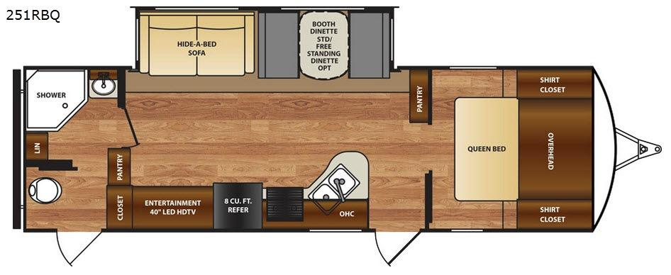 Wildcat 251RBQ Floorplan Image
