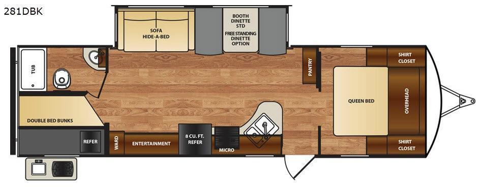 Wildcat 281DBK Floorplan Image