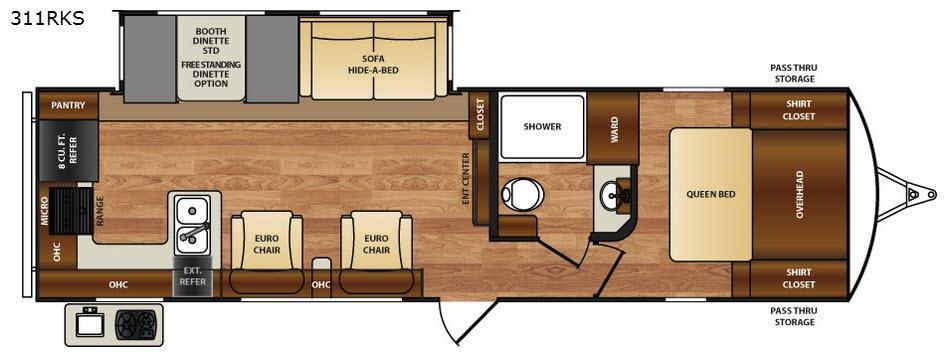 Wildcat 311RKS Floorplan Image