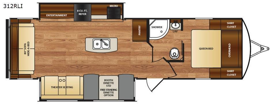 Wildcat 312RLI Floorplan Image
