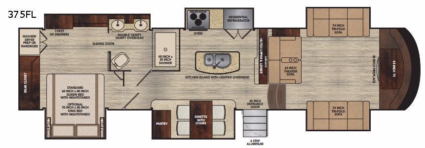 Vilano 375FL Floorplan Image