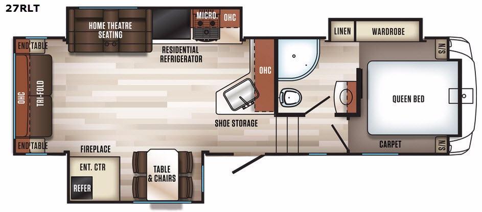 Sabre 27RLT Floorplan Image