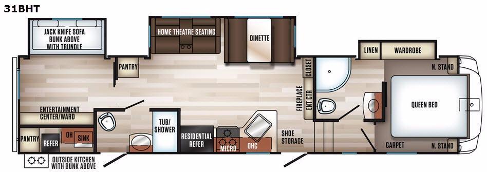 Sabre 31BHT Floorplan Image