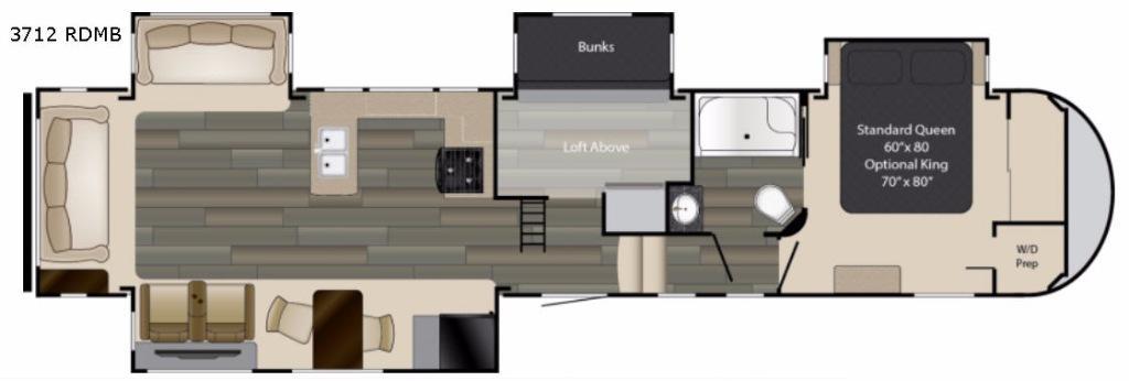 Gateway 3712 RDMB Floorplan Image
