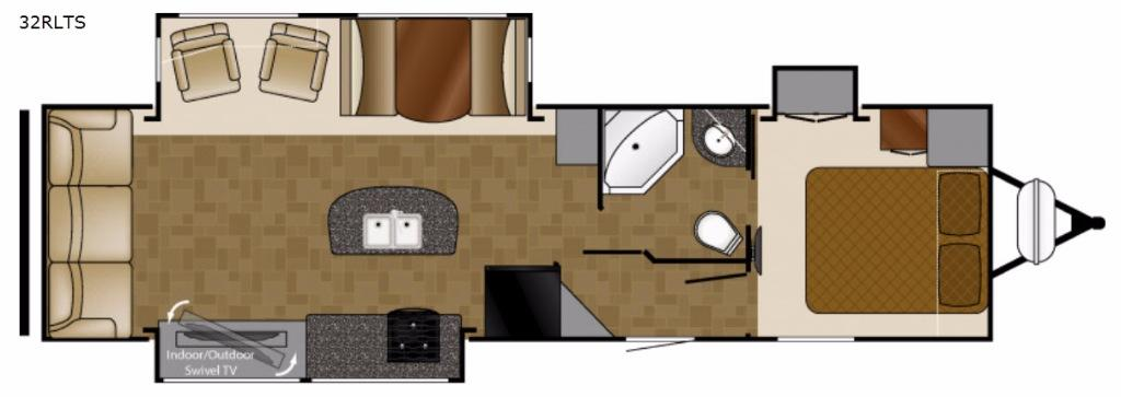 North Trail 32RLTS King Floorplan Image