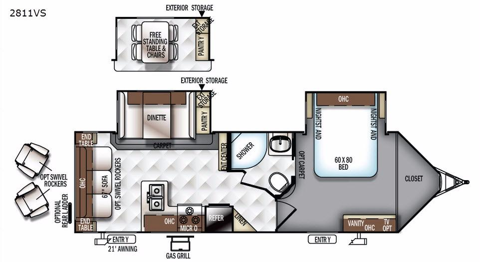 Rockwood Ultra V 2811VS Floorplan Image