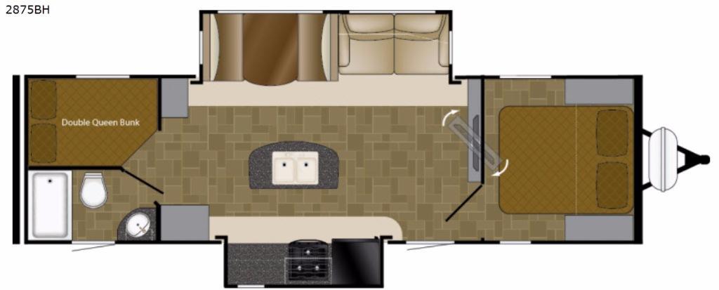Wilderness 2875BH Floorplan Image