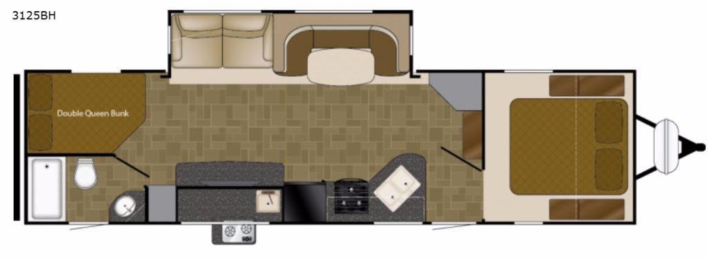 Wilderness 3125BH Floorplan Image