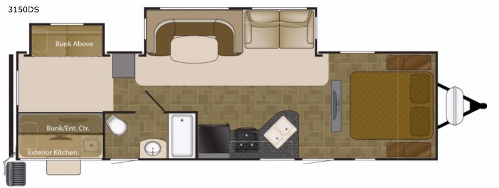 Wilderness 3150DS Floorplan Image