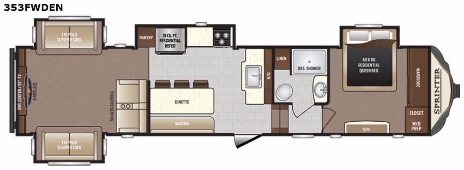 Sprinter 353FWDEN Floorplan Image