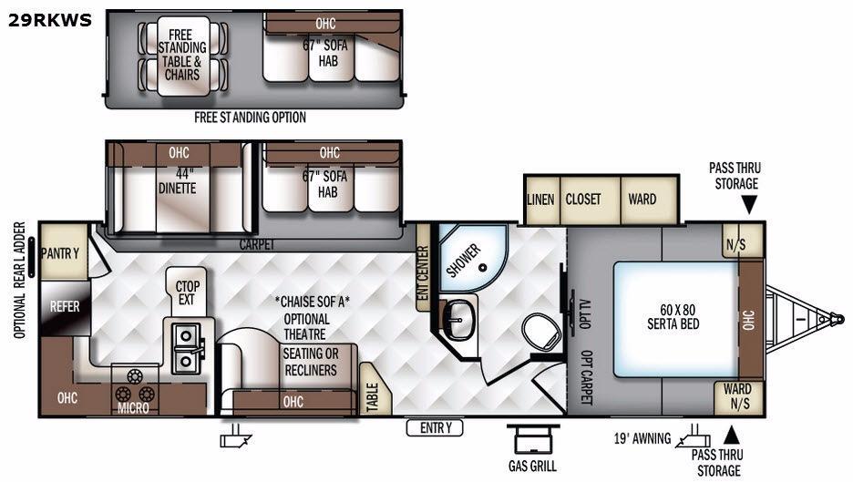 Flagstaff Super Lite 29RKWS Floorplan Image