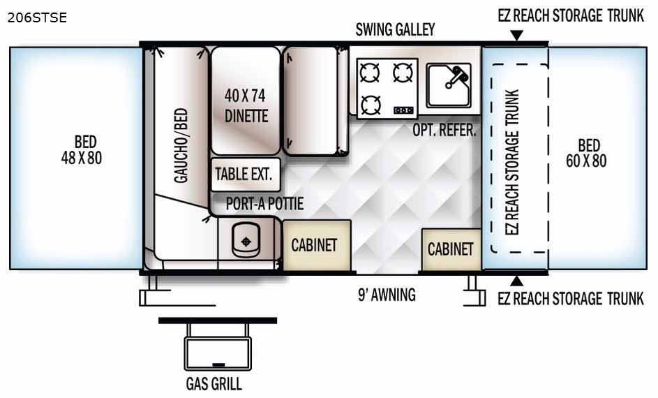 Flagstaff SE 206STSE Floorplan Image