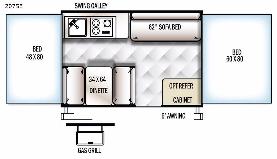 Flagstaff SE 207SE Floorplan Image