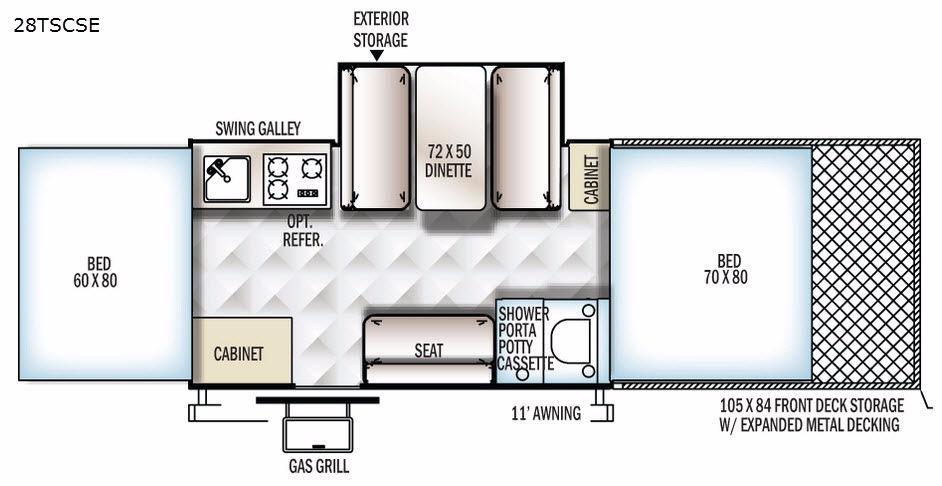 Flagstaff SE 28TSCSE Floorplan Image