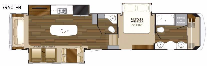 Big Country 3950 FB Floorplan Image