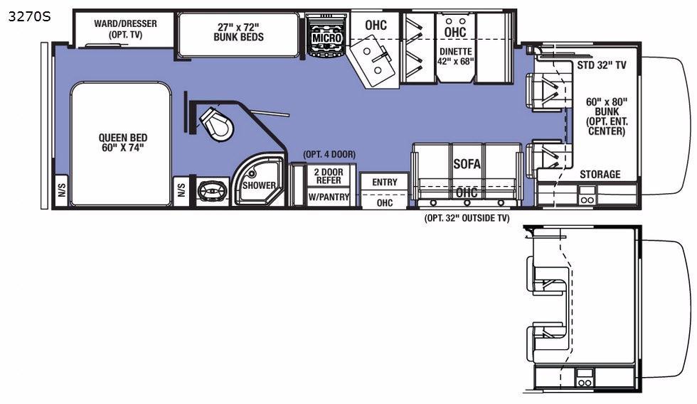 Sunseeker 3270S Ford Floorplan Image