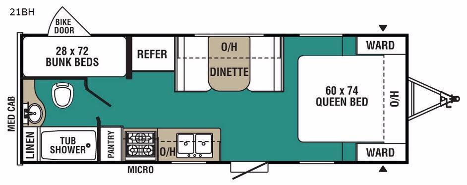 Ultra-Lite 21BH Floorplan Image
