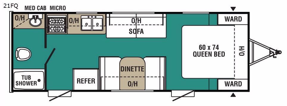 Ultra-Lite 21FQ Floorplan Image