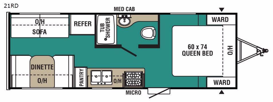 Ultra-Lite 21RD Floorplan Image