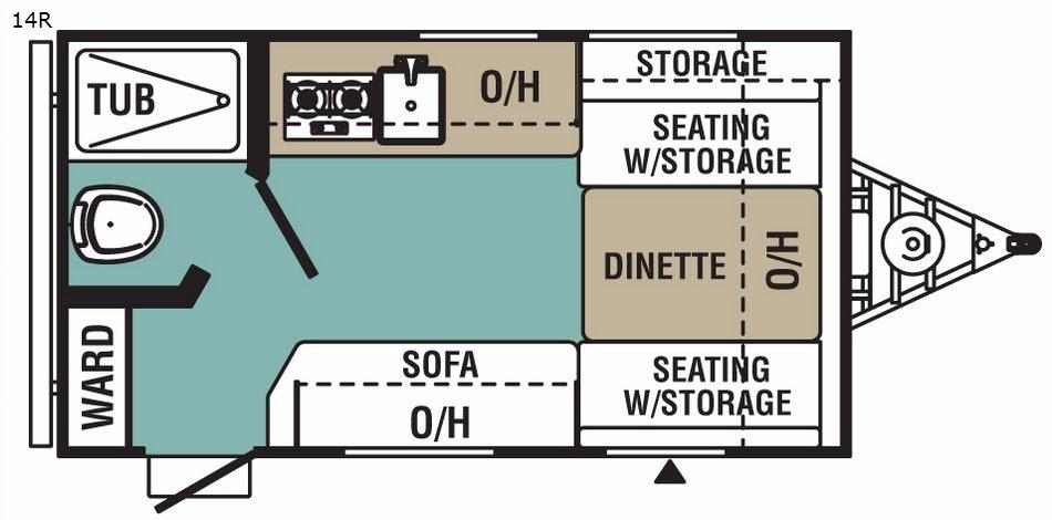 Ultra-Lite 14R Floorplan Image