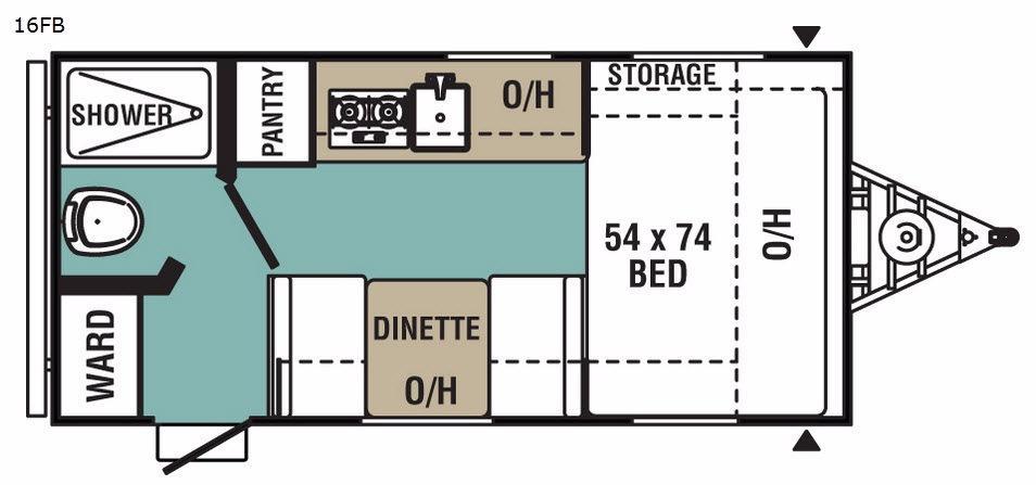 Ultra-Lite 16FB Floorplan Image