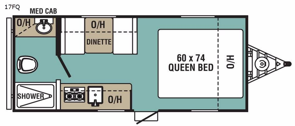 Ultra-Lite 17FQ Floorplan Image