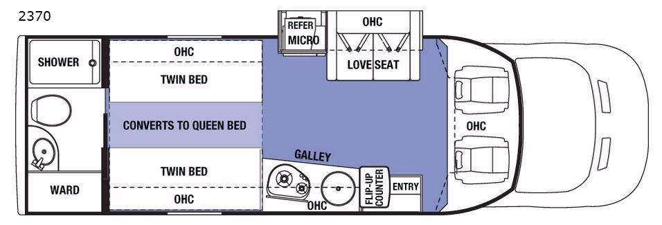 Sunseeker TS 2370 Floorplan Image