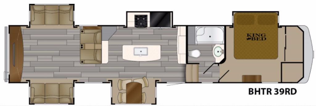 Bighorn Traveler 39RD Floorplan Image