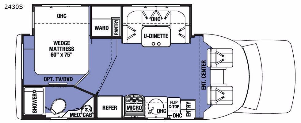 Sunseeker Grand Touring Series 2430S Floorplan Image