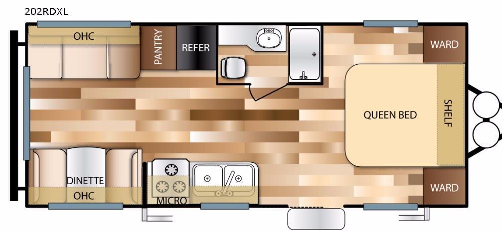 Wildwood X-Lite 202RDXL Floorplan Image